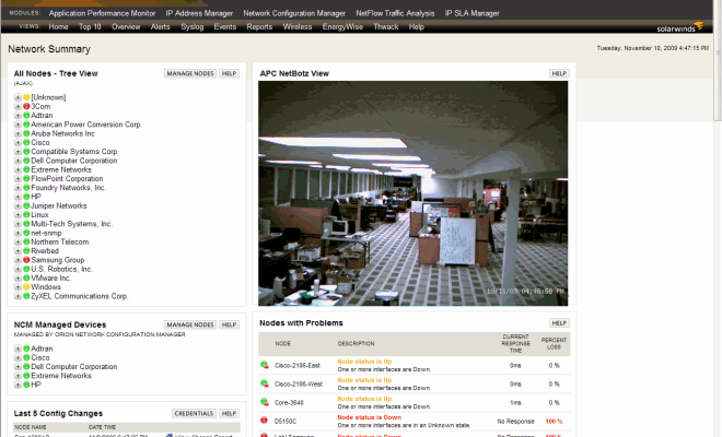 How to integrate an APC NetBotz camera with Solarwinds Orion