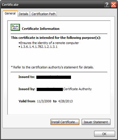 How to convert an SSL cert to a  pem for installation on