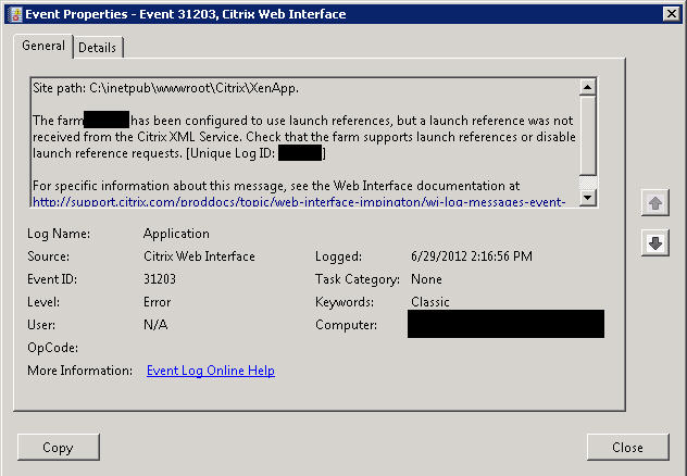 Legacy Citrix apps not launching on newer Web Interface