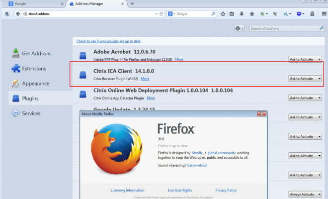 Firefox 30 0 users not able to launch Citrix XenApp or