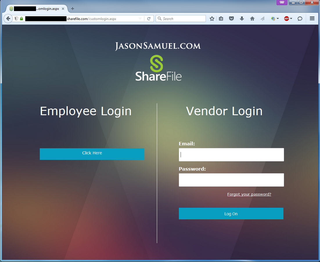 How to deploy the X1 theme with Citrix ShareFile split login single