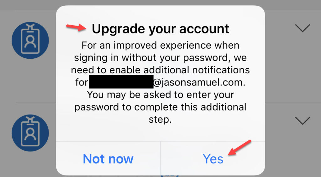 How to setup password-less phone sign-in authentication with